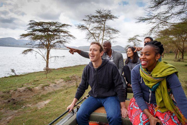 Mark Zuckerberg visiting Kenya
