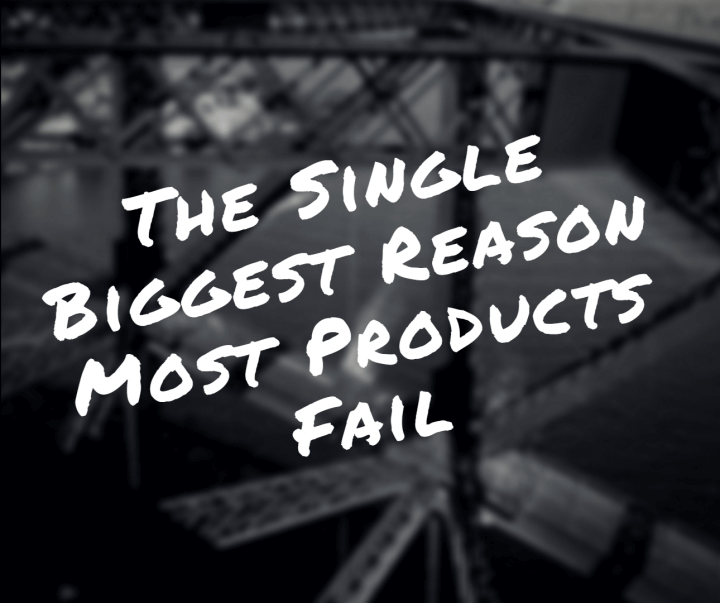 Product failure: the single biggest reason most products fail.