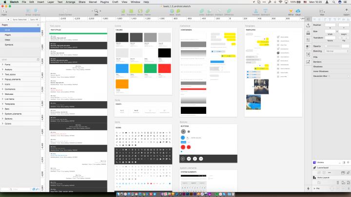 Design system elements in a Sktech file