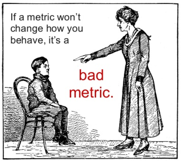 Measure user experience: woman accusing a boy of being a bad metric