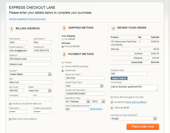 Single screen checkout screen. Born from the idea of decreasing the steps of each user journey.