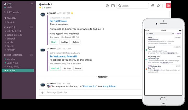 Product management tools: Slack screen