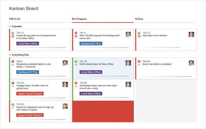 Product management tools: Jira screen