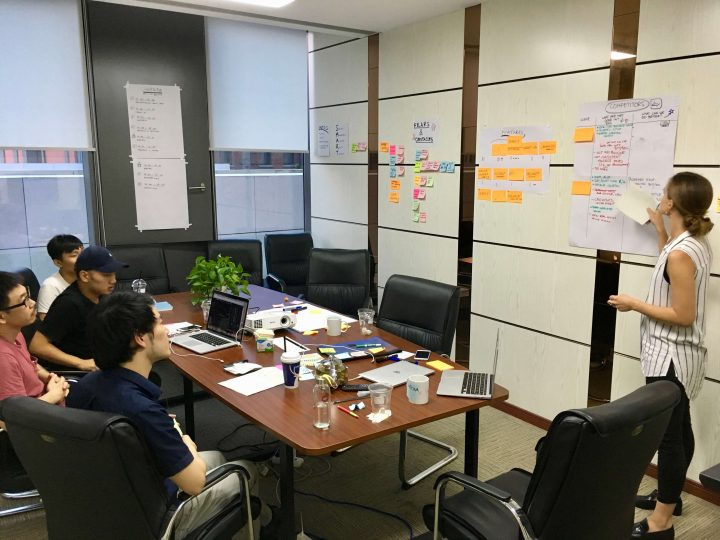 UX maturity model: workshop in progress