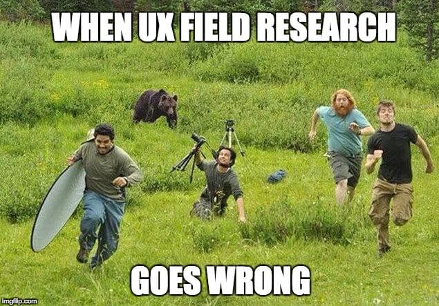 Field research with a cross-functional team - When ux research goes wrong