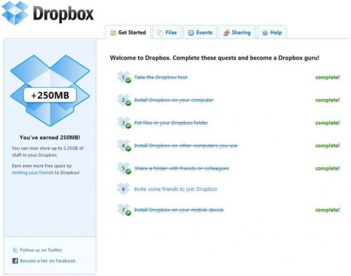 Gamification In UX - Dropbox
