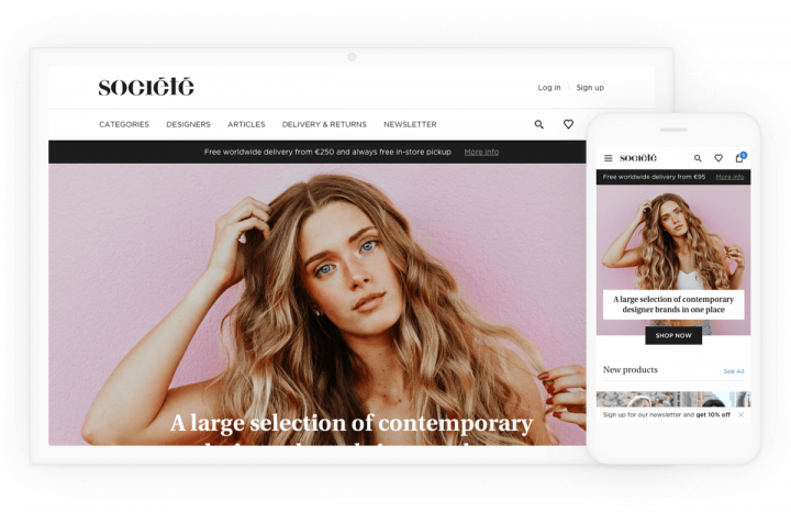 E-commerce UX Case Study Societe Store Landing Pages