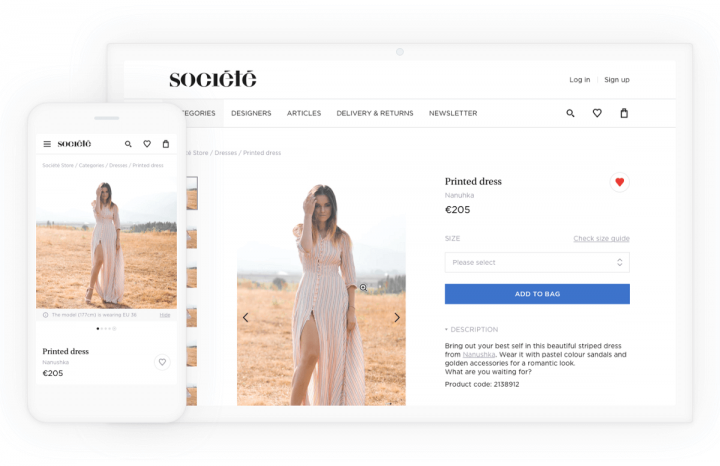 E-commerce UX Case Study Societe Store Mobile Desktop