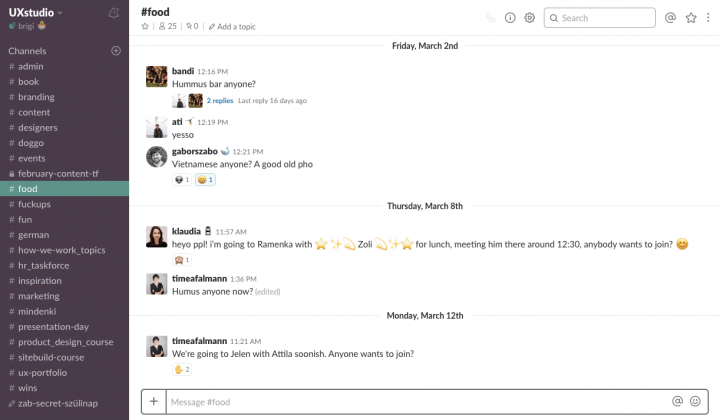 Product Release Lovability - Slack
