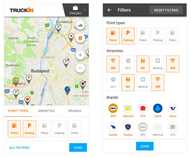 Digital Space_Trucking App Screen
