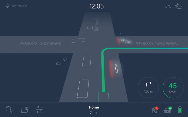 AI UX self-driving car