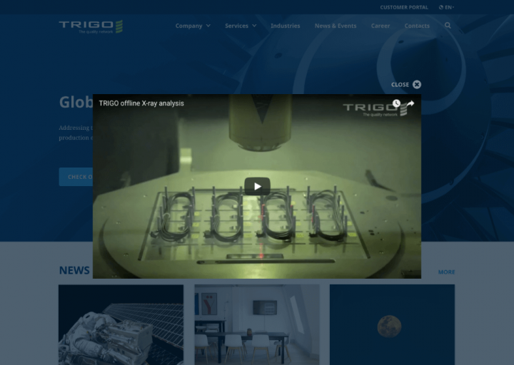 Business Website Design Video Embedding