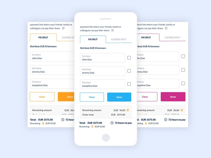 Split Expenses With Payment Plugin - UX Case Study - Colors