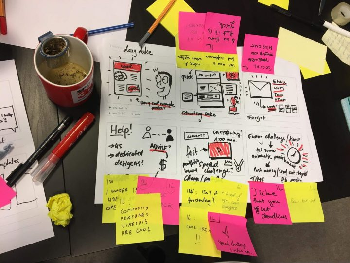 Design sprint sketching example