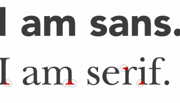 Legibility: differences between sans and serif