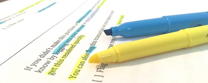 UX copywriting highlighter testing illustration