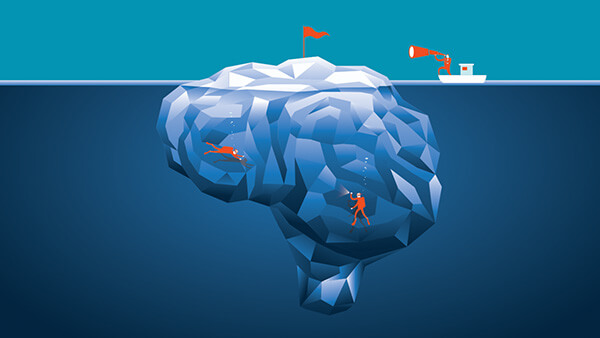 Market research vs user research: iceberg illustration