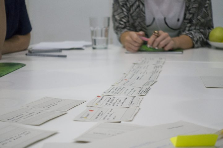 UX research training: using post-its