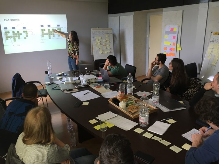 UX research training researcher presenting