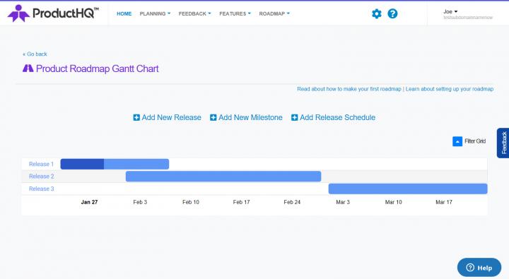 ProductHQ roadmap feature screenshot