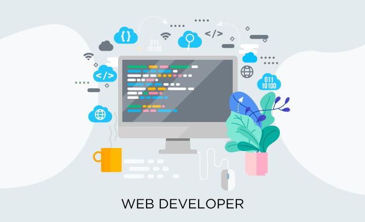 Web designer vs web developer: web developer illustration