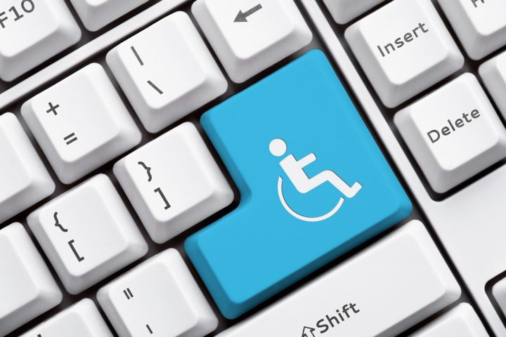 Website accessibility: accessibility sign on keyboard
