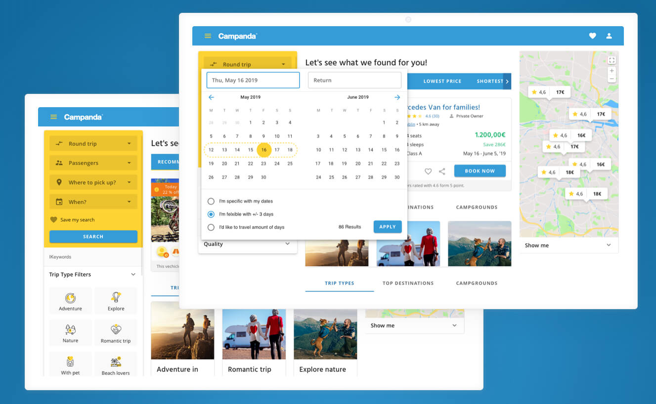 UX case study- campanda expanded filter