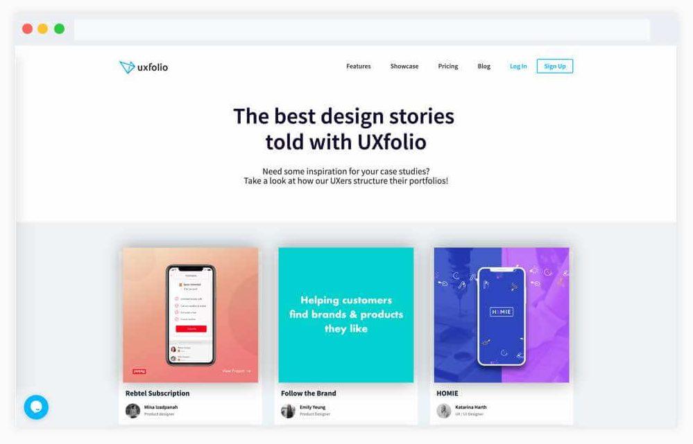Design Portfolio Website -UX folio