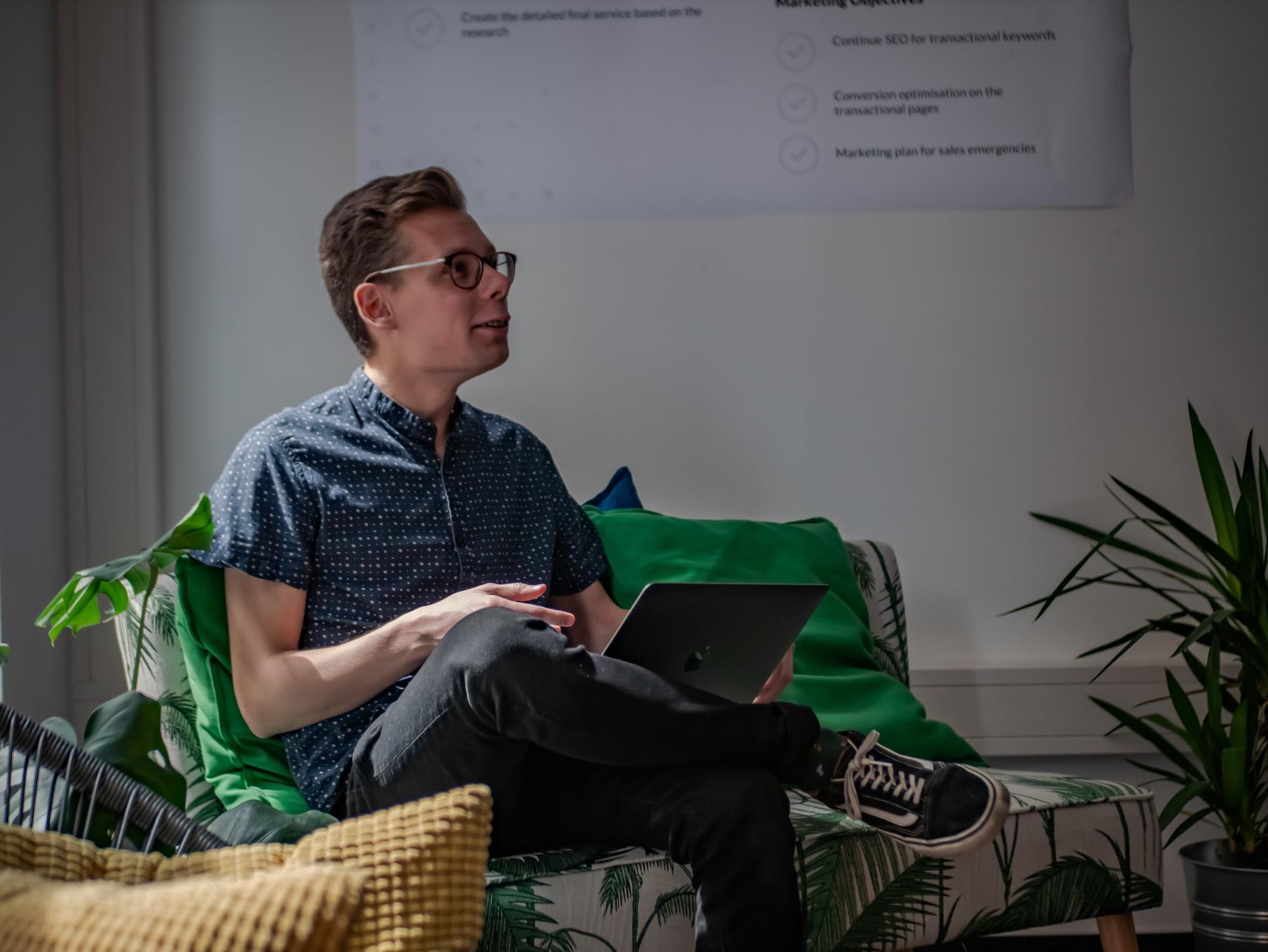 UX studio designer Vitarius Bence
