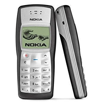 Nokia 1100, an unusable phone for old people due to its terrible button design