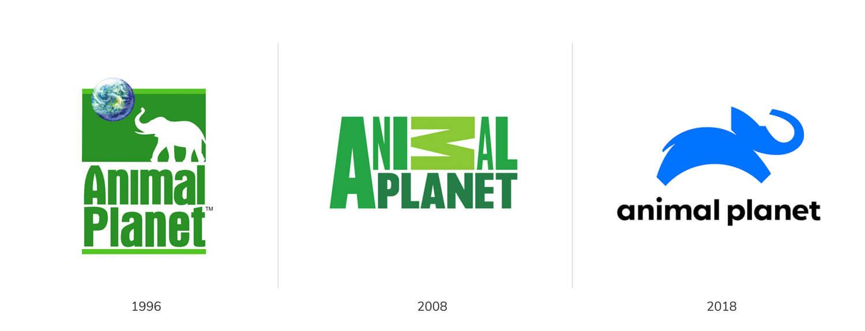 Animal planet follows logo trends