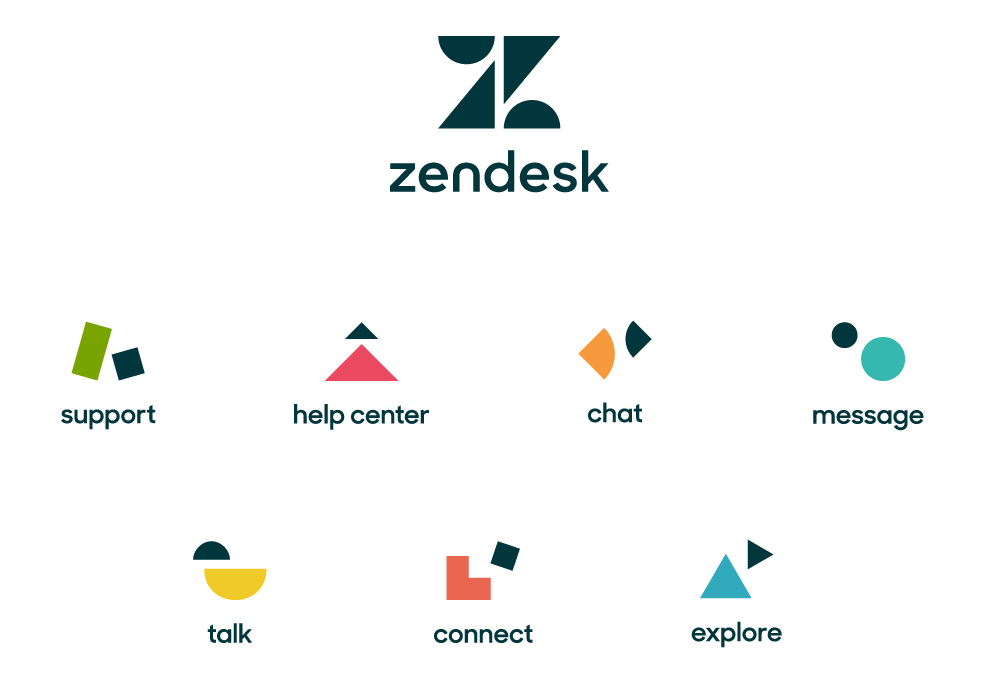Creative variable logo trends from Zendesk