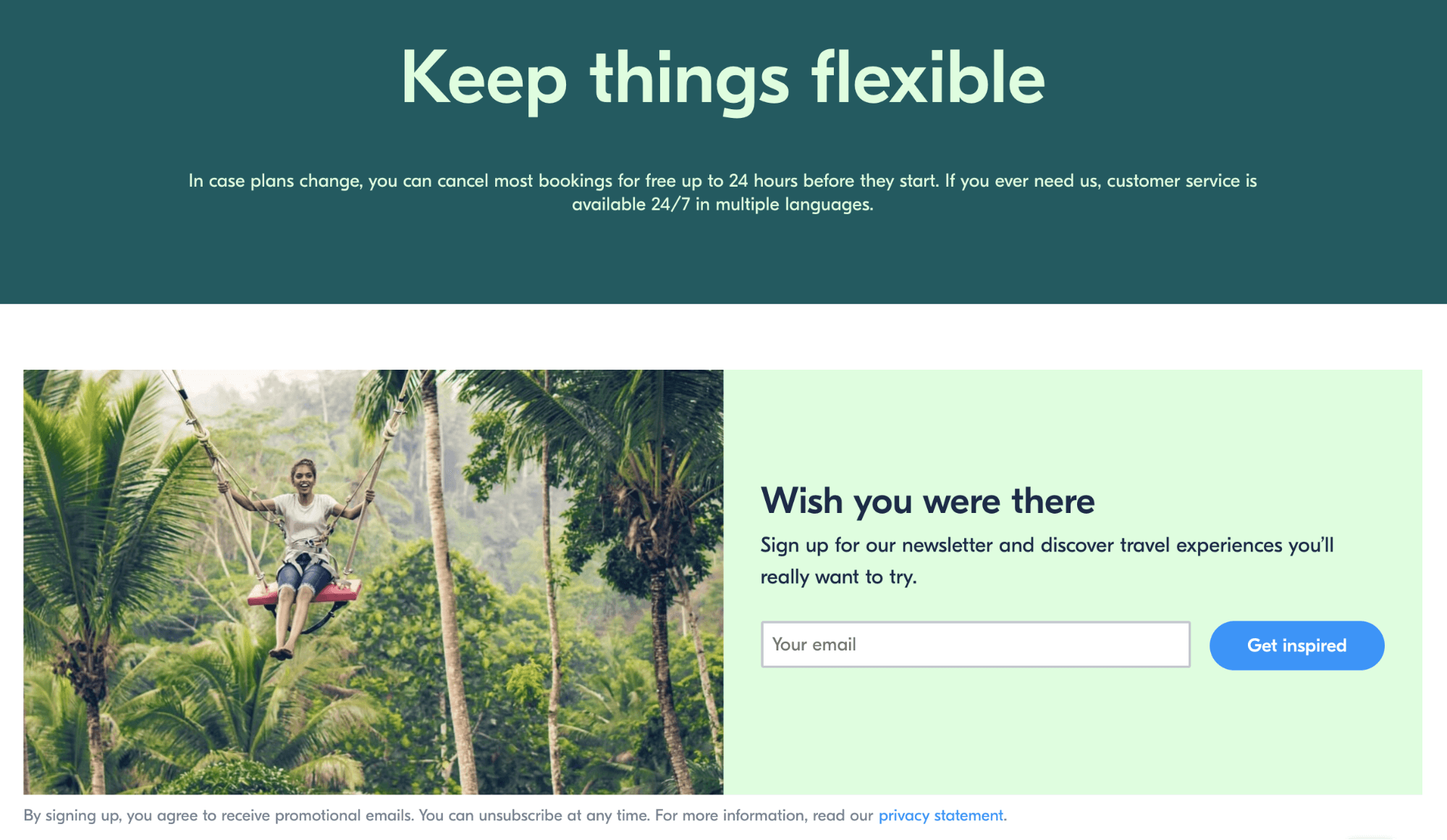 Get your guide UX writing example