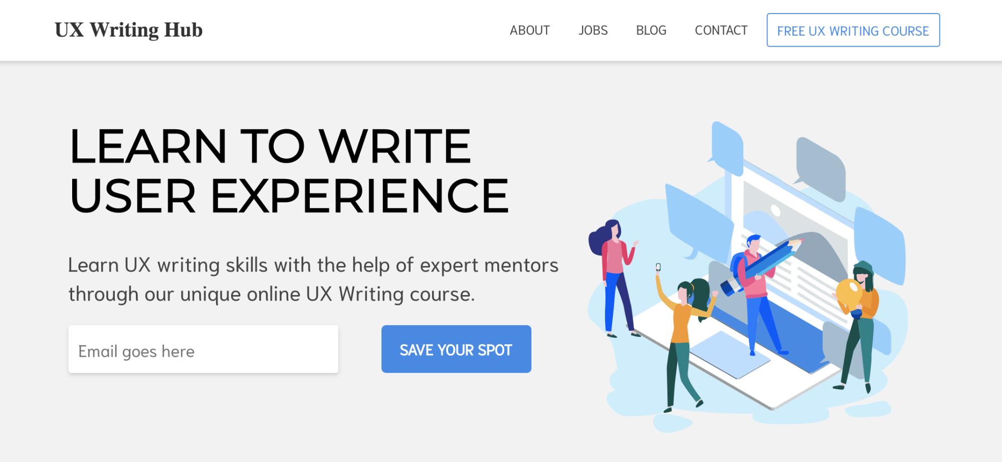 ux writing course