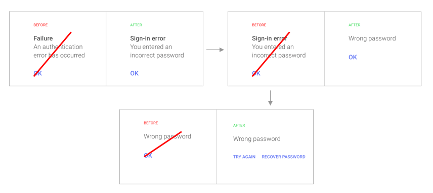 Google ux writing changes