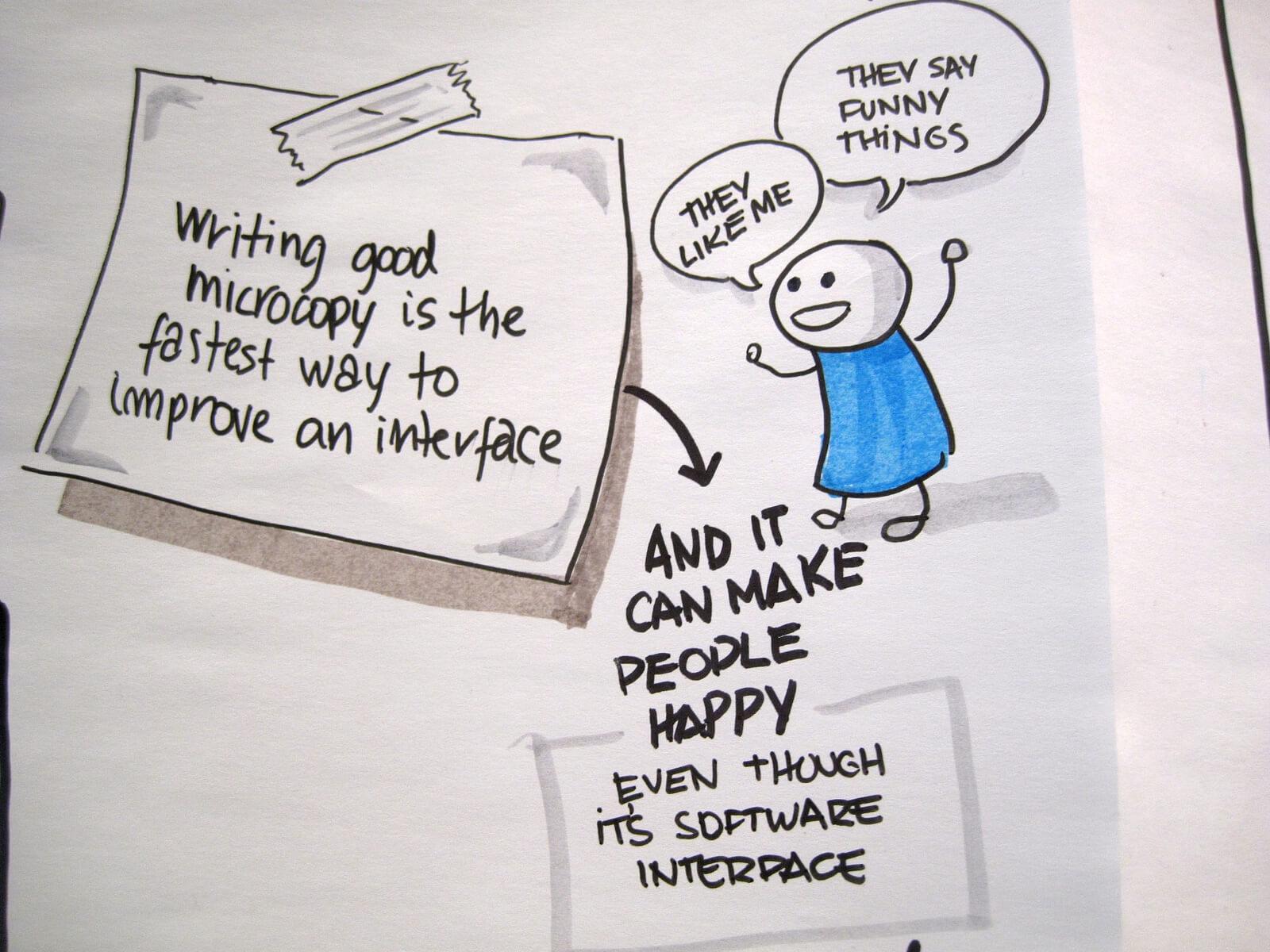 improving an interface through ux writing
