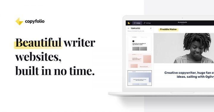 copyfolio, a website and portfolio builder for copywriters and content writers