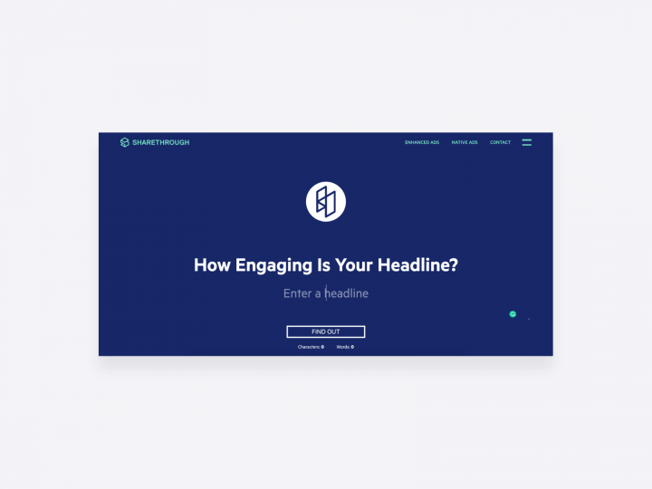 copywriting tool by sharethrough that analyzes how engaging a headline is