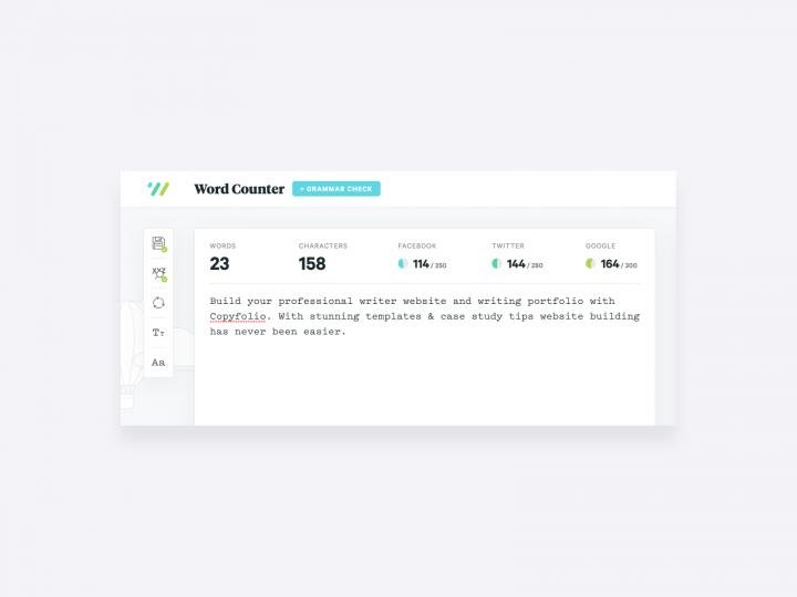 wordcounter, online copywriting tool
