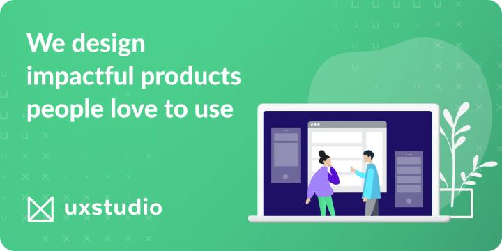 app designing company UXSTUDIO banner
