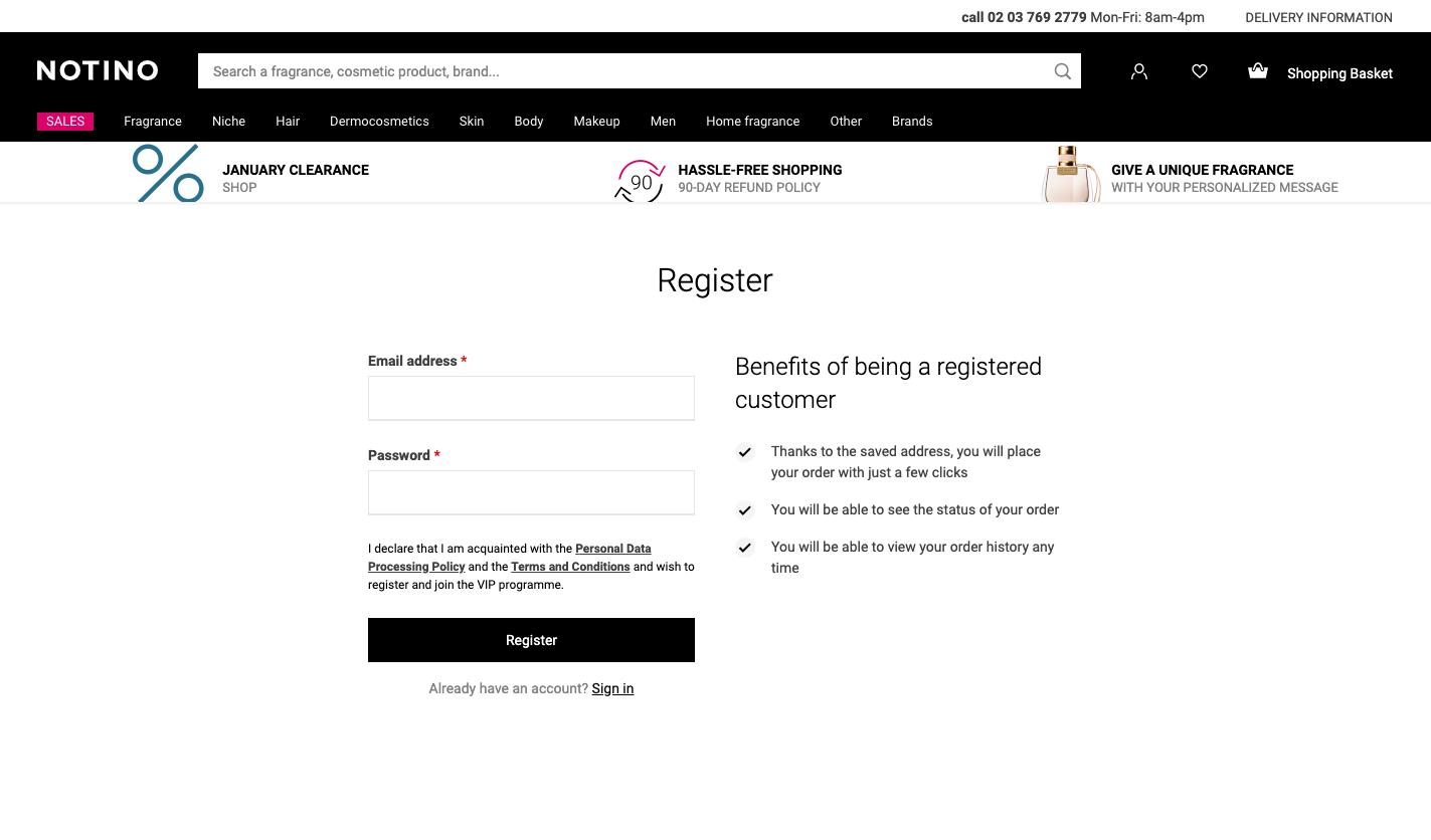 Good registration example