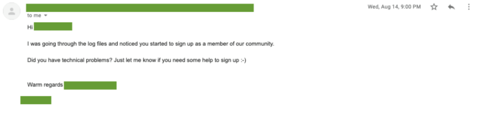 Sign-up example-1